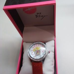 Betsey Johnson New Dinner French Fries Watch